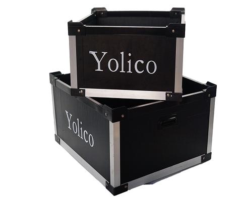 Plastic Corrugated Box with Aluminum Frame