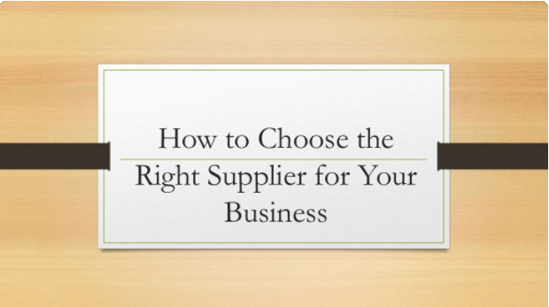 how to choose a suitable supplier